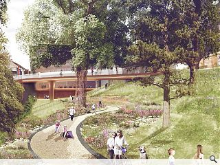 Planning sought for Union Terrace Gardens intervention