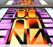 Stained glass provides a recurring theme throughout interior spaces