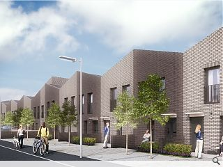 Terraced homes extend Maryhill Locks regeneration