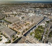 The £200m masterplan occupies the site of the former McEwan's Brewery