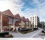 Streetfronts will be enlivened with new cade's, shops and restaurants