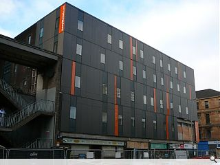 Easyhotel over-cladding works complete