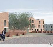Properties will be finished in a mix of red and light grey brick