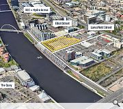 The largely derelict plot by the River Clyde will be transformed into a high-density community