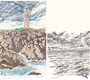Dunlop has identified a further 22 lighthouses to draw as part of the collection