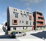 The contemporary approach is intended to match the scale of neighbouring properties