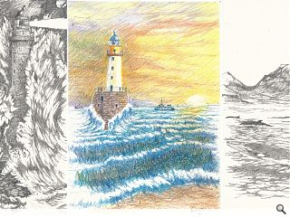 Architect sketches Lighthouse family for posterity