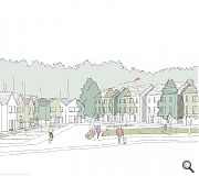 Homes will be arranged around a central green, backing onto the Espedair Burn on one side