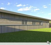 A 30sq/m outbuilding is proposed alongside the home