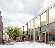 The new school will be centred on a double height atrium and courtyard