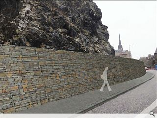 Edinburgh Castle rock fall wall plan submitted