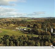 Viewed from afar the distillery blends with the Speyside landscape. Photo Mark Power