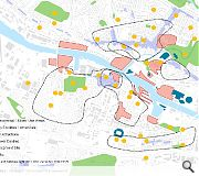 Existing communities on both banks of the river will be knitted together by new developments