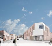 The urban infill will be built out to the street edge