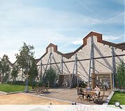 A large part of the existing boundary wall and gables will be retained
