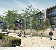 Green spaces will feature prominently in the new development