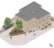 A double height structure will minimise the loss of playground space