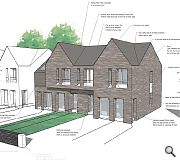 The scheme will accommodate 27 houses and 4 apartments in addition to a children's home