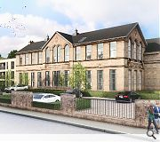 Additional homes will be housed within an adjoining extension, faced in matching blonde sandstone