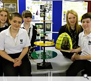 Auchinleck Academy proudly display their work, which will go head-to-head with eight other finalists