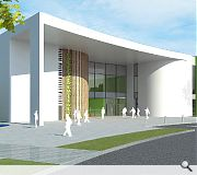 Moray Sports Centre will be clad in cedar timber and white metal