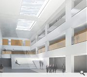 Classrooms are arranged around a light filled central atrium