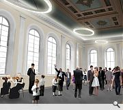 A civic reception space will be created within the restored town house
