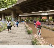 The active travel route will follow the most direct desire line between St George's Cross and Cowcaddens