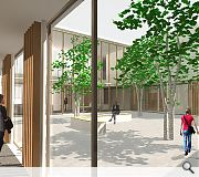 Interior spaces will be arrayed around a landscaped internal courtyard