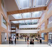 The School entrance and community entrance are merged to form a singular civic approach