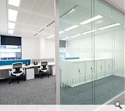Smaller office spaces are provided alongside larger open plan floorplates