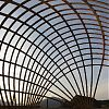 Gridshell outdoor classroom communicates climate change challenge