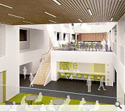 Pupils will congregate around a central hub atrium space