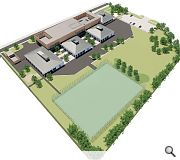Varied use of pitched and flat roofs will further distinguish teaching clusters from the central core