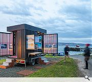 The Eolas Pavilion is a wheeled 3m long trailer which was sent as far afield as the Inner Hebrides, visiting communities such as Isle of Coll, Kilcreggan and Dumfries along the way
