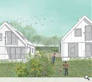 Homes will be largely screened from the road by existing vegetation