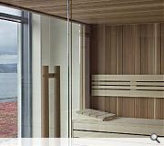 Upper floor Spa sauna with a view!