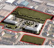 Rowan Business Park - Teuchar hill aerial