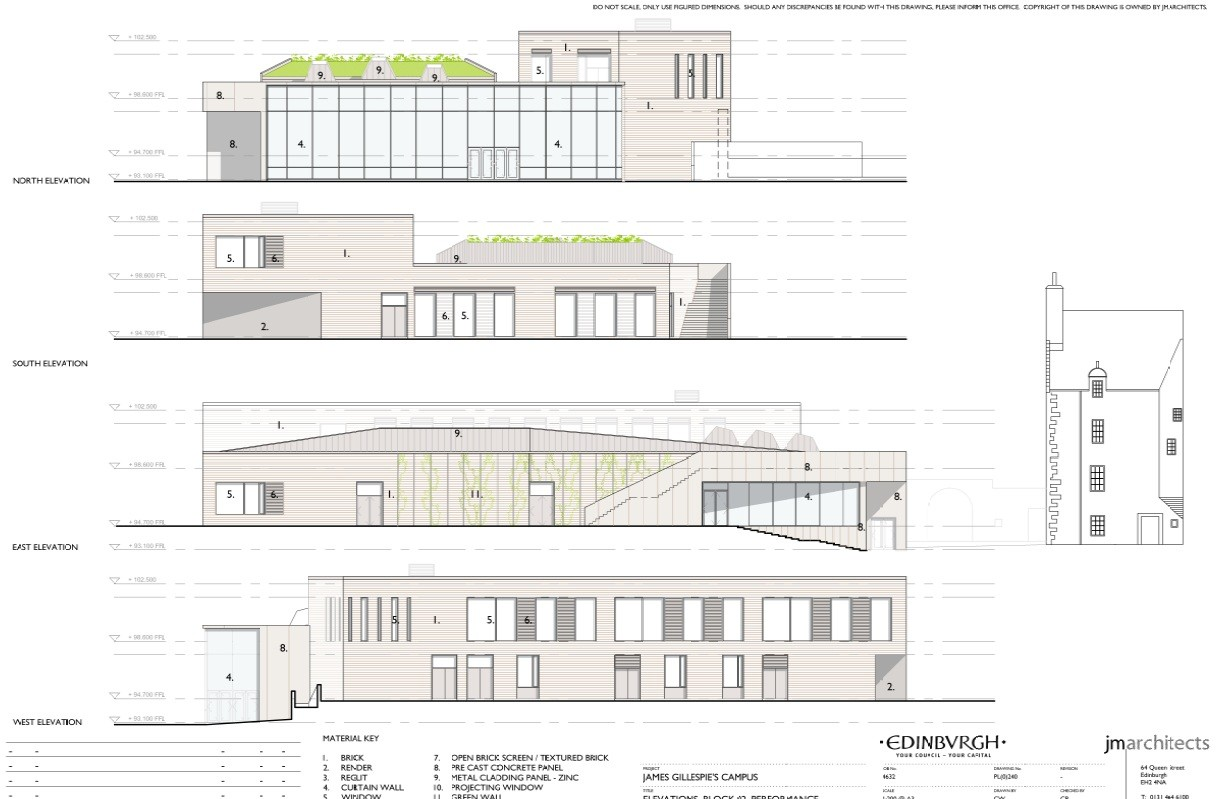 Jm architects submit edinburgh school plans august 2011 - College of design construction and planning ...